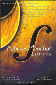 Planchat, luthier